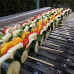Grilled Vegetable and Halloumi Skewers