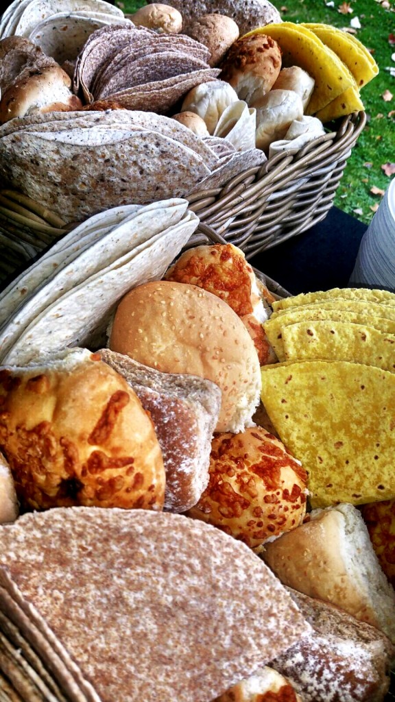 Selection Of Fresh Bread Rolls And Wraps